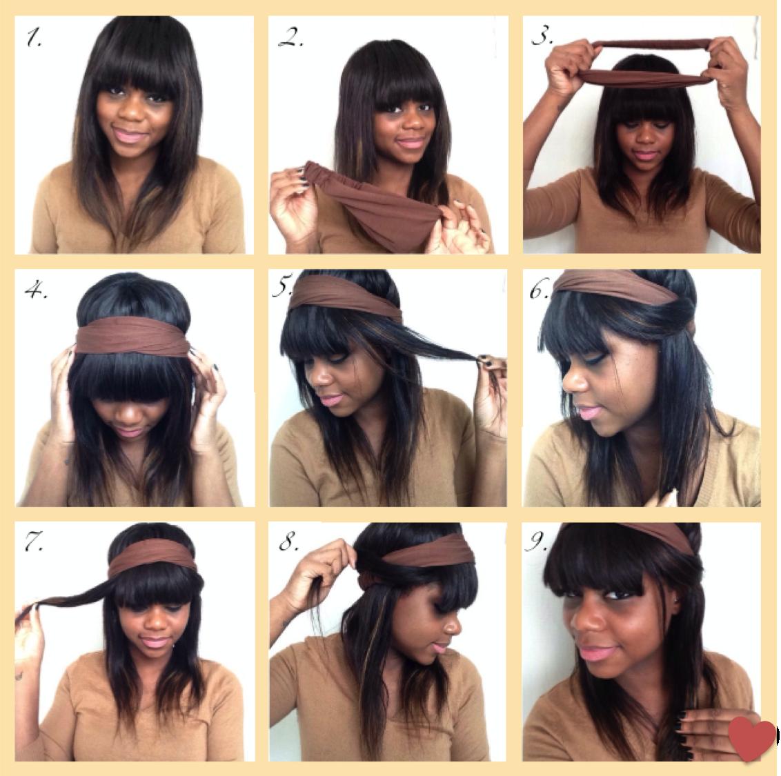 Idées coiffures avec une frange (Part 1) – EBENI DIARY