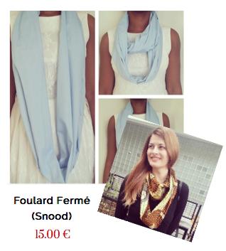 Foulard fermé (Snood) ou écharpe en tube
