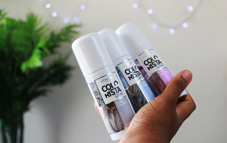 Spray colorista l'oréal paris cheveux crépus